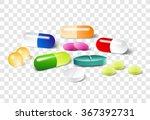 different pills on a... | Shutterstock .eps vector #367392731
