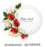 Beautiful Holiday Card With Re...