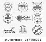 set of vector music production... | Shutterstock .eps vector #367405331