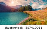 Sunny Summer Panorama Of The...
