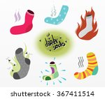 dirty socks. the smell of dirty ... | Shutterstock .eps vector #367411514