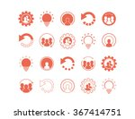 set of coral icons  logos ... | Shutterstock .eps vector #367414751