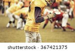 american football game   retro... | Shutterstock . vector #367421375