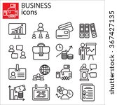 web icons set   business | Shutterstock .eps vector #367427135