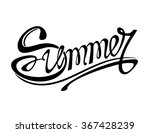 """summer"" ornamental lettering.... 