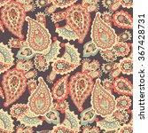 paisley seamless ethnic... | Shutterstock .eps vector #367428731