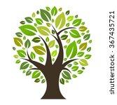 eco tree  vector illustration | Shutterstock .eps vector #367435721