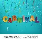 colorful handmade typographic... | Shutterstock .eps vector #367437194