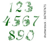 happy st. patrick's day. floral ... | Shutterstock .eps vector #367437671