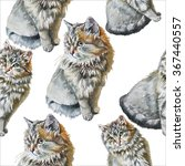 Seamless Pattern With Cute Cats....
