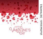 hand drawn valentines day... | Shutterstock .eps vector #367444961