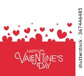 happy valentine's day text as... | Shutterstock .eps vector #367446485