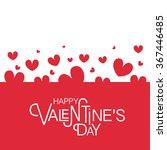 hand drawn valentines day... | Shutterstock .eps vector #367446485