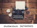top view thirties retro writers ... | Shutterstock . vector #367449401