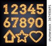 neon light vector figures. type ... | Shutterstock .eps vector #367450691