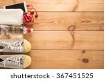 fitness equipment and healthy...   Shutterstock . vector #367451525