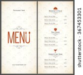 restaurant menu design. vector... | Shutterstock .eps vector #367453301