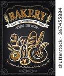 vintage bakery poster. freehand ... | Shutterstock .eps vector #367455884