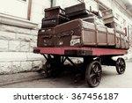 Vintage Retro Luggage On An...
