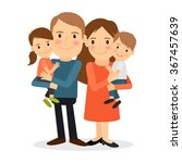 couple with children. mother... | Shutterstock .eps vector #367457639