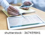 accounting on a tablet computer ... | Shutterstock . vector #367459841