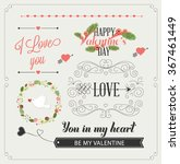 happy valentines day and... | Shutterstock .eps vector #367461449
