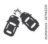 crash icon vector.   Shutterstock .eps vector #367462235