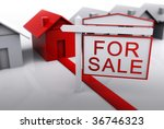 red unique house for sale | Shutterstock . vector #36746323