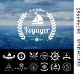 set of vintage  nautical badges ... | Shutterstock .eps vector #367464965