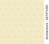 geometric pattern. cubes yellow ... | Shutterstock .eps vector #367471481