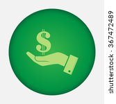 sign dollar vector icon  | Shutterstock .eps vector #367472489