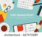 time management banner.... | Shutterstock .eps vector #367473389