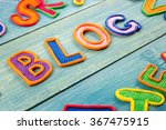 word blog made with plasticine... | Shutterstock . vector #367475915