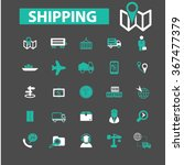 shipping  delivery  logistics ... | Shutterstock .eps vector #367477379