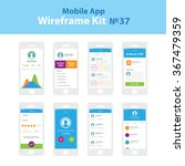 mobile wireframe app ui kit 37. ... | Shutterstock .eps vector #367479359