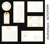 vector set letterhead  labels ... | Shutterstock .eps vector #367479599