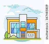 vector illustration of modern... | Shutterstock .eps vector #367485809