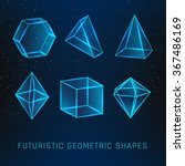 set of geometric glassy shapes. ... | Shutterstock .eps vector #367486169
