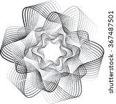 wave illustration flowers... | Shutterstock .eps vector #367487501