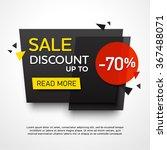 ecommerce bright vector banner... | Shutterstock .eps vector #367488071