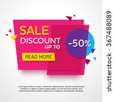 ecommerce bright vector banner. ... | Shutterstock .eps vector #367488089