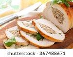 stuffed turkey breast with... | Shutterstock . vector #367488671