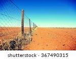 Dingo Fence In The Australian...