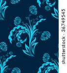 seamless floral background. in... | Shutterstock . vector #36749545