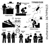 typhoid fever unhygienic... | Shutterstock .eps vector #367499615