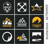mountain icons set. mountain... | Shutterstock .eps vector #367503905