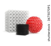 geometric objects made by 3d... | Shutterstock . vector #367507091
