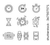 types of alarms clocks  timers... | Shutterstock .eps vector #367507571