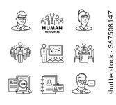human resources  team work and...   Shutterstock .eps vector #367508147