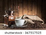 still life with coffee beans... | Shutterstock . vector #367517525